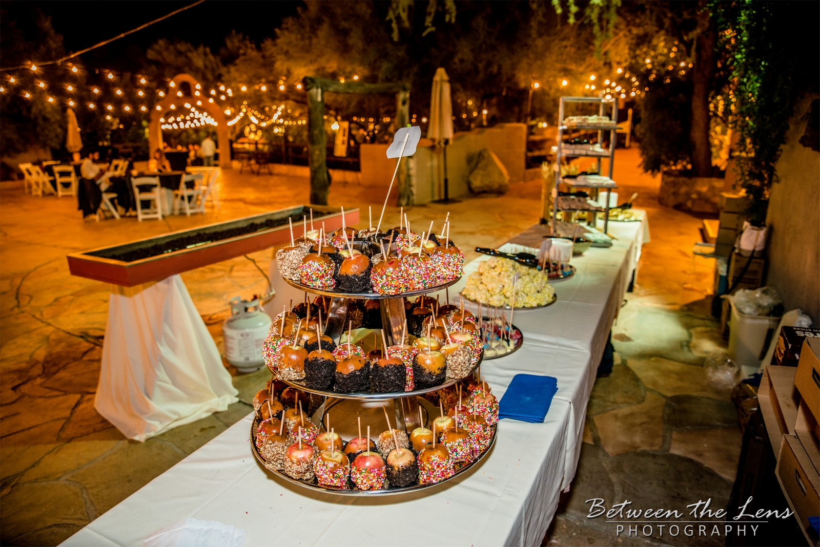 Candy Apple Buffet Table