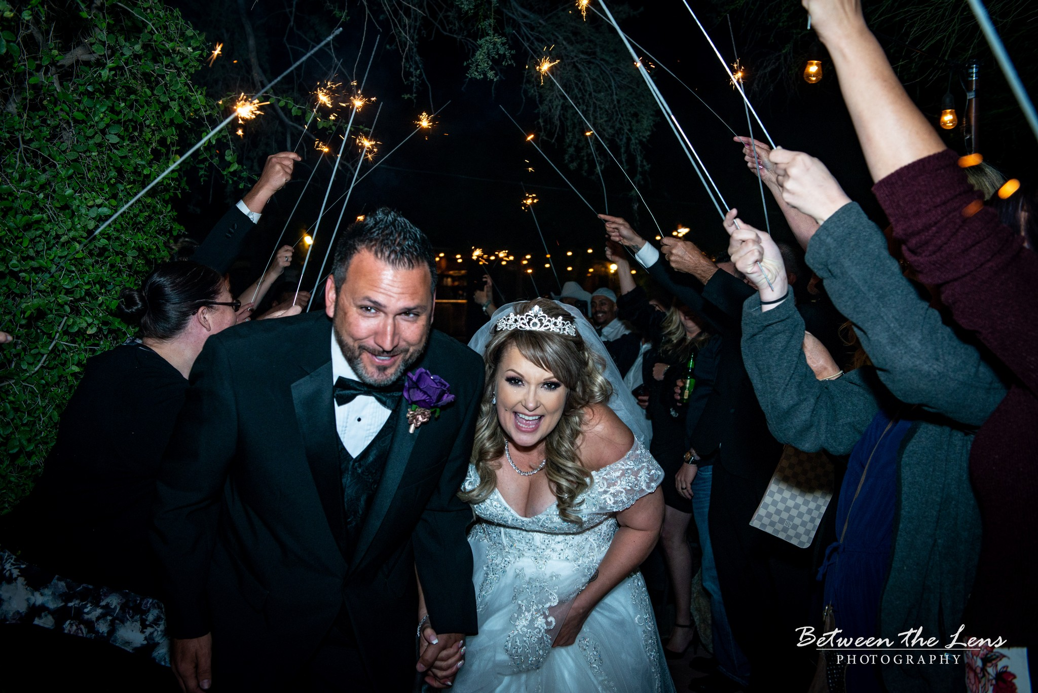 Couples Walk with Sparklers